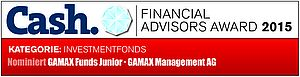 GAMAX Funds Junior - Nominierung für den Financial Advisors Award 2015 Badge