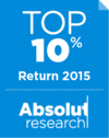 Top 10% Award Absolut Research Badge